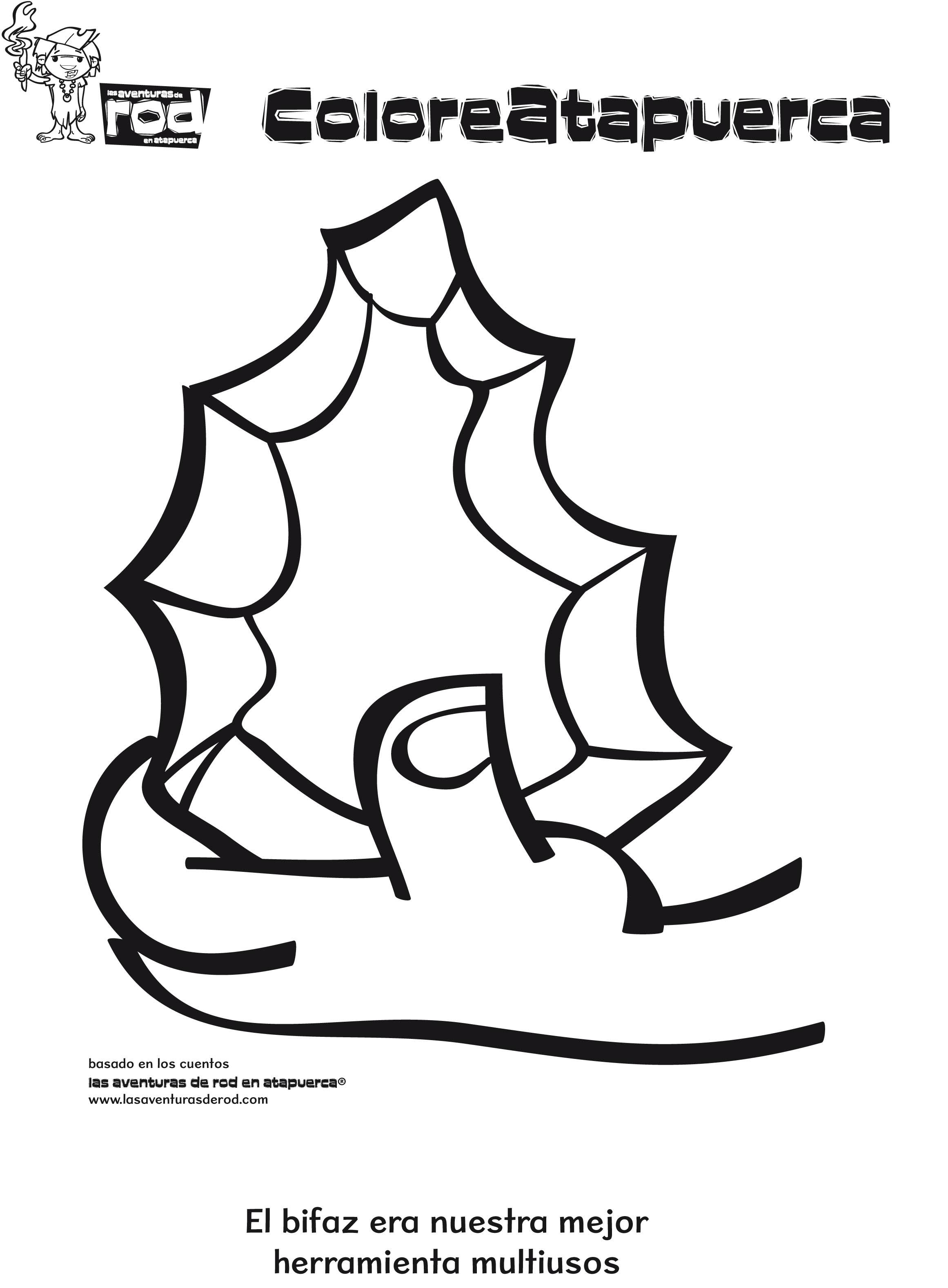 Descarga dibujos para colorear de Las Aventuras de Rod en Atapuerca