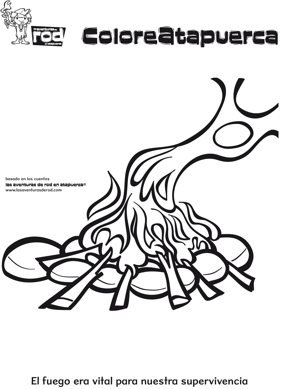 Famoso Colorear Fuego Para Imprimir Elaboración - Dibujos Para ...